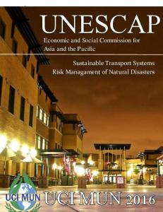 UNESCAP. Economic and Social Commission for Asia and the Pacific. Sustainable Transport Systems. Risk Managament of Natural Disasters