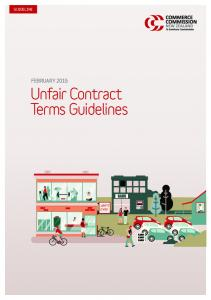 Unfair Contract Terms Guidelines