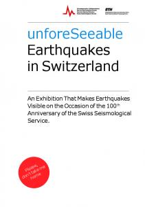 unforeseeable Earthquakes in Switzerland