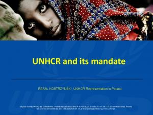 UNHCR and its mandate