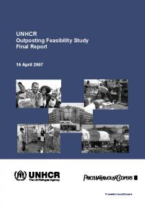 UNHCR Outposting Feasibility Study Final Report