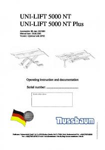 UNI-LIFT 5000 NT UNI-LIFT 5000 NT Plus