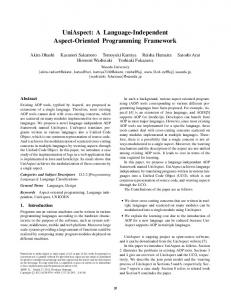 UniAspect: A Language-Independent Aspect-Oriented Programming Framework