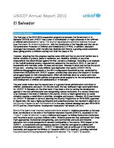 UNICEF Annual Report 2015 El Salvador