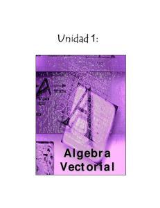 Unidad 1: Algebra Vectorial