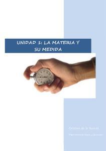 UNIDAD 1: LA MATERIA Y SU MEDIDA