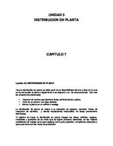 UNIDAD 3 DISTRIBUCION EN PLANTA CAPITULO 7