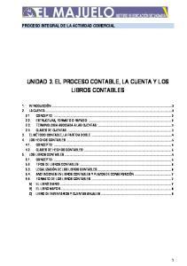 UNIDAD 3. EL PROCESO CONTABLE, LA CUENTA Y LOS LIBROS CONTABLES