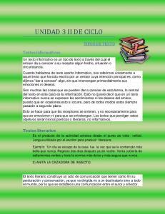 UNIDAD 3 II DE CICLO