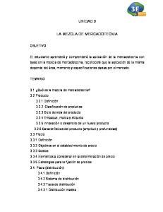 UNIDAD 3 MEZCLA DE MERCADOTECNIA