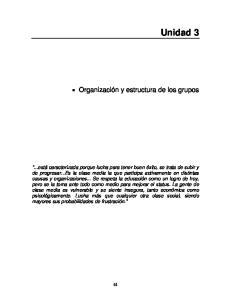 Unidad 3. Organización y estructura de los grupos