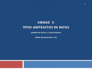 UNIDAD 3: TIPOS ABSTRACTOS DE DATOS
