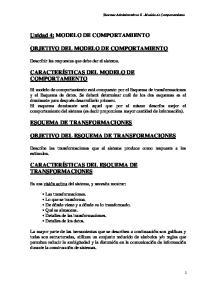 Unidad 4: MODELO DE COMPORTAMIENTO OBJETIVO DEL MODELO DE COMPORTAMIENTO