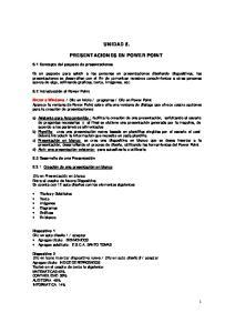UNIDAD 5. PRESENTACIONES EN POWER POINT