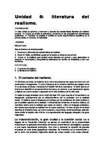 Unidad 6: literatura del realismo