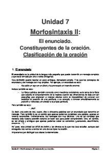 Unidad 7 Morfosintaxis II: