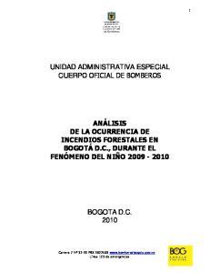 UNIDAD ADMINISTRATIVA ESPECIAL CUERPO OFICIAL DE BOMBEROS