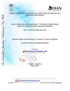 UNIDAD ADMINISTRATIVA ESPECIAL DIRECCION DE IMPUESTOS Y ADUANAS NACIONALES