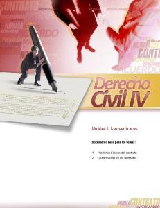 Unidad I. Los contratos Documento base para los temas:
