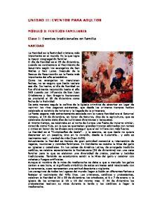 UNIDAD II: EVENTOS PARA ADULTOS