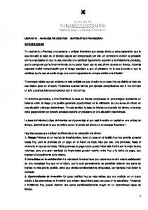UNIDAD III ANALISIS DE GESTION MATEMATICA FINANCIERA