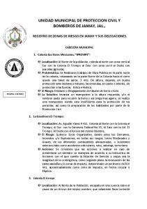 UNIDAD MUNICIPAL DE PROTECCION CIVIL Y BOMBEROS DE JAMAY, JAL.,