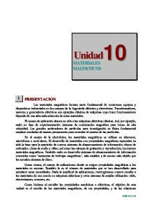 Unidad10 MATERIALES MAGNETICOS
