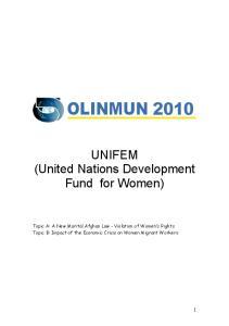 UNIFEM (United Nations Development Fund for Women)