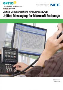 Unified Messaging for Microsoft Exchange