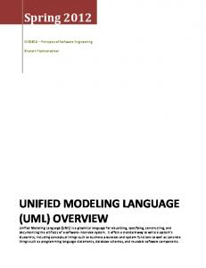 UNIFIED MODELING LANGUAGE (UML) OVERVIEW