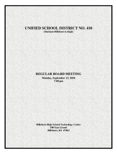 Unified School District No. 410