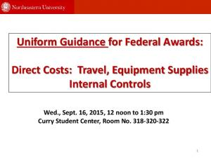 Uniform Guidance for Federal Awards: