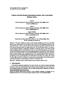 Uniform Parallel Machine Scheduling Problem with Controllable Delivery Times