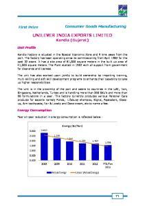 UNILEVER INDIA EXPORTS LIMITED