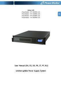 Uninterruptible Power Supply System