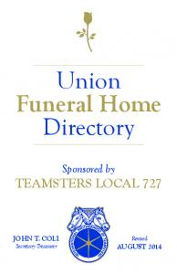 Union Funeral Home Directory