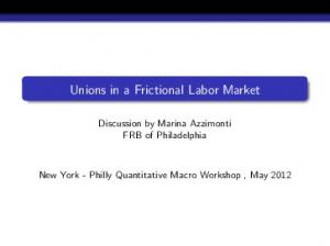 Unions in a Frictional Labor Market