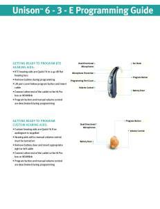 Unison E Programming Guide