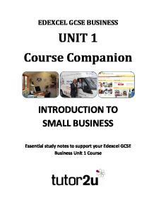 UNIT 1 Course Companion