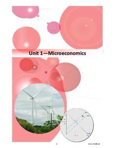 Unit 1 Microeconomics