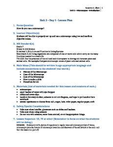 Unit 2 Day 1 - Lesson Plan