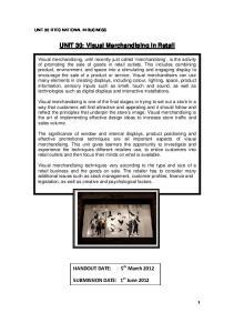 UNIT 30: Visual Merchandising in Retail