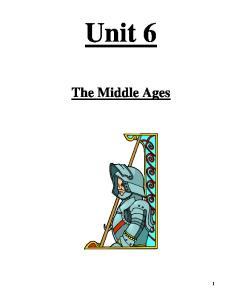 Unit 6. The Middle Ages