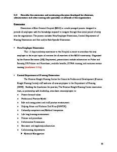 Unit Based Orientation Role Specific Orientation