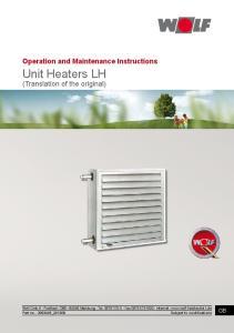 Unit Heaters LH (Translation of the original)