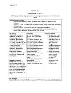 Unit : Math Unit 11. Lesson: Lessons 11-1 to 11-9