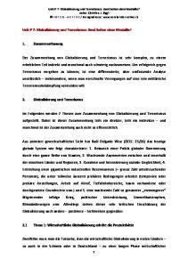 Unit P 7: Globalisierung und Terrorismus: Zwei Seiten einer Medaille?
