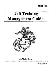 Unit Training Management Guide