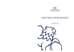 UNIT TRUST SHORT REPORTS 31 MARCH 2015