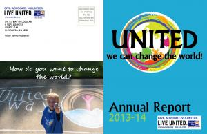 UNITED. Annual Report we can change the world! How do you want to change the world?